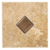 "Castle De Verre 6 1/2"" x 6 1/2"" Decorative Accent Tile in Chalice Gold"