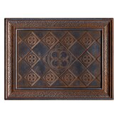 "Castle Metals 12"" x 16"" Clover Mural Decorative Wall Tile in Wrought Iron"