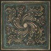 "Metal Signatures Artesia Mural 12"" x 12"" Decorative Tile in Aged Bronze"