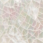 "Ocean Jewels 2"" x 2"" Crackled Accent Tile in Mother of Pearl"