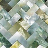 "Ocean Jewels 2"" x 2"" Herringbone Accent Tile in Black Lip"