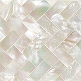 "Ocean Jewels 2"" x 2"" Herringbone Accent Tile in Mother of Pearl"