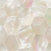 "Ocean Jewels 2"" x 2"" Hexagon Accent Tile in Mother of Pearl"