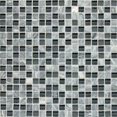 Stone Radiance 12&quot; x 12&quot; Mosaic Tile Blend in Glacier Gray Marble (10 Pieces)