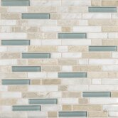 "Stone Radiance 12"" x 12"" Random Mosaic Tile Blend in Whisper Green (10 Pieces)"