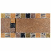 "Terra Antica 6"" x 12"" Decorative Accent Border in Bruno"