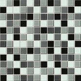 Isis 12&quot; x 12&quot; Glass Mosaic Tile in Pewter Blend