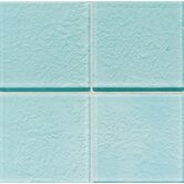 "Molten Glass 2"" x 2"" Wall Tile in Sea Breeze"