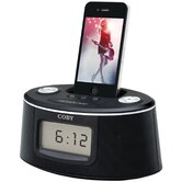 Am/FM Clock Radio With iPhone & iPod Docking Stereo Speaker System