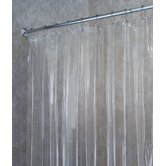 Vinyl Shower Extra-Wide Curtain/Liner in Clear