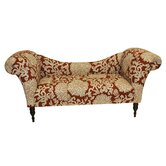 Roll Arm Cotton Chaise Lounge