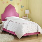 High Arc Micro-Suede Upholstered Bed