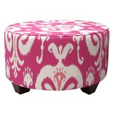 Himalaya Fabric Cocktail Ottoman
