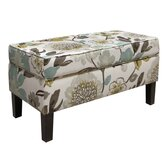 Gorgeous Fabric Storage Bench
