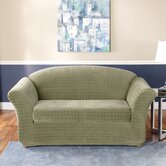 Stretch Squares Two Piece Sofa Slipcover