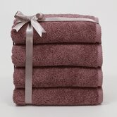 Luxury Hotel & Spa Collection 100% Turkish Cotton Soft Twist Hand Towels (Set of 4)