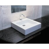 Domino Vessel Sink in White