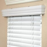 "2"" Faux Wood Blind in White - 84"" L"