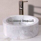 14&quot; Circular Vessel Sink in Cafe Blanc Travertine