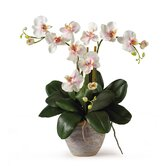 Triple Mini Phalaenopsis Silk Orchid Arrangement in Light Pink