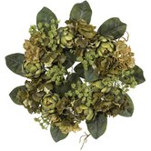 18&quot; Artichoke Wreath in Green