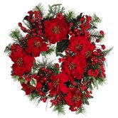 24&quot; Poinsettia Wreath