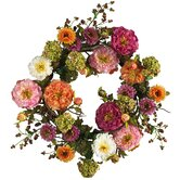 24&quot; Peony Wreath