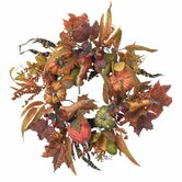 24&quot; Pumpkin &amp; Berry Wreath