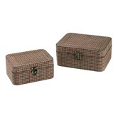 2 Piece Gingham Wrapped Box Set