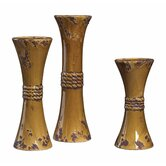 Ceramic Candlesticks (Set of 3)