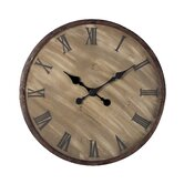 Wooden  Roman Numeral Wall Clock