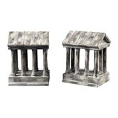 Aged Colum Bookends