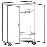2000 Series Coat Storage Mobile Cabinet
