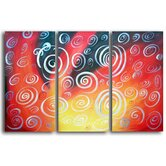 Hand Painted 'Serenity Swirls' Canvas Art