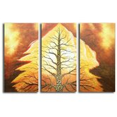 Hand Painted 'Volcanic Tree' Canvas Art