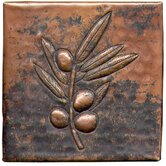 Berry Branch 4&quot; x 4&quot; Copper Tile