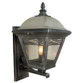 Brentwood Outdoor Wall Lantern with Large Backplate