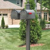 Main Street Double Mailbox Post