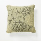 Green Fields Sketched Floral Pillow
