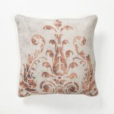Provence Digital Fern Pillow in Rust