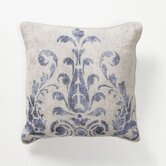 Provence Digital Fern Pillow in Blue
