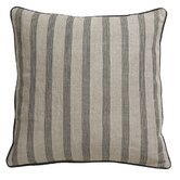 Utilitarian Linen S. Street Black Accent Pillow