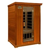 2-Person Cedar Infrared Sauna with Eight Carbon Heaters and Color Therapy Lights