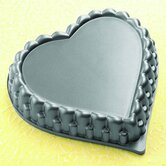"Kaisercast 11"" Heart Shaped Flan Pan"