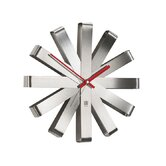 Ribbon Clock in Steel