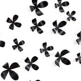 Wall Flower in Black (Set of 25)