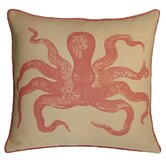 Cuttlefish Decorative Pillow in Coral Sand