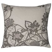 Hydrangea Decorative Pillow in Silver