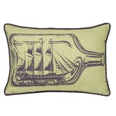 Ship In A Bottle Decorative Pillow