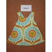 Apron Dress in Pop Daisy